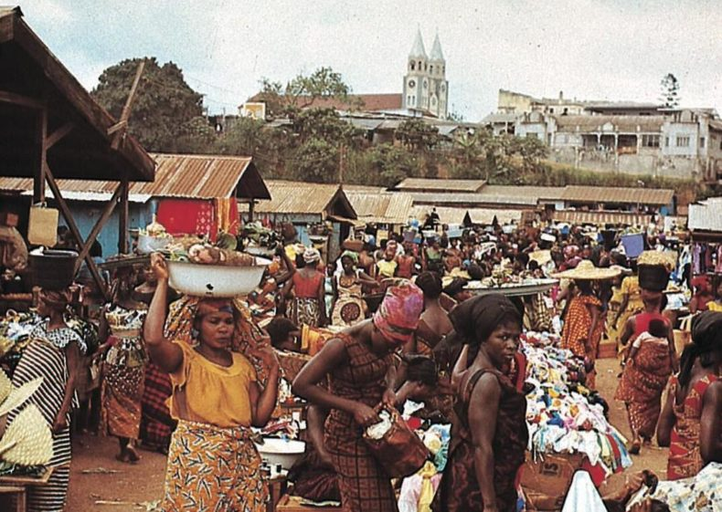 The market in Kumasi