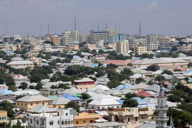 Overview of Downtown in Mogadishu