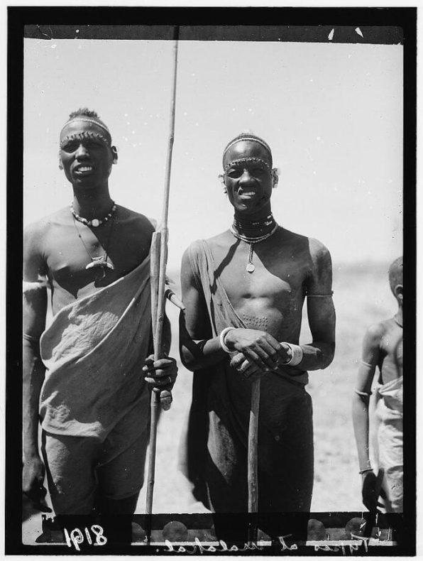 Two shilluks by the city of Malakal in 1936