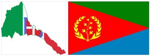 Eritrea Flag and Map