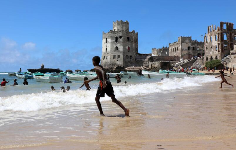 Xamarweyne beach on the Indian Ocean off Mogadishu