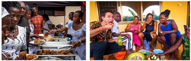 Eating in Ghana
